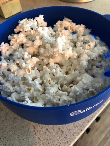 The same kernels popped in the bowl