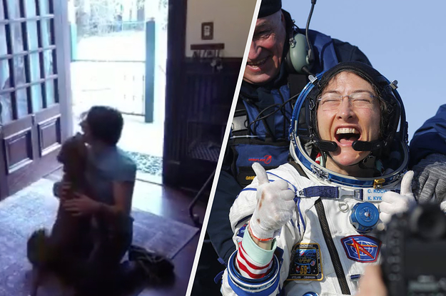 An Astronaut Spent 328 Days In Space And Then Posted A Video Of Her Reunion With Her Dog