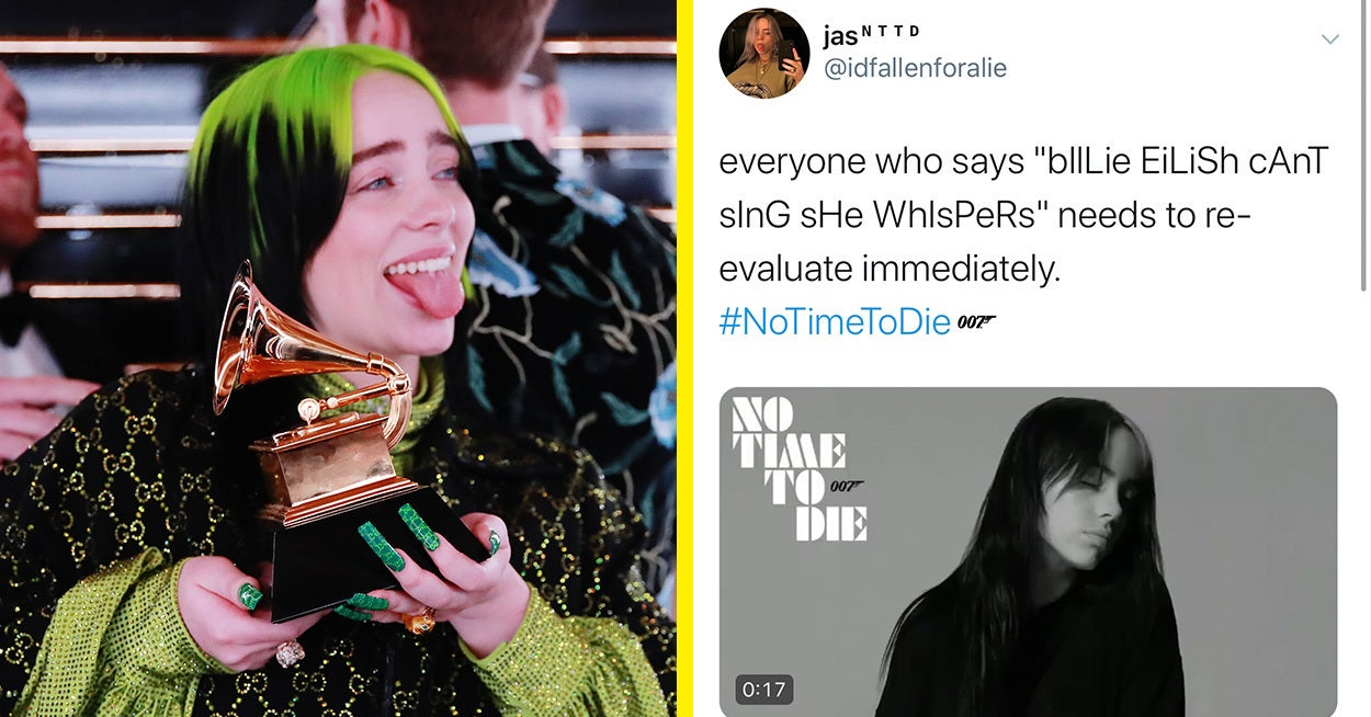 """Billie Eilish Released The New """"Bond"""" Song And Basically Clapped Back At People Who Said She Can Only Whisper-Sing"""
