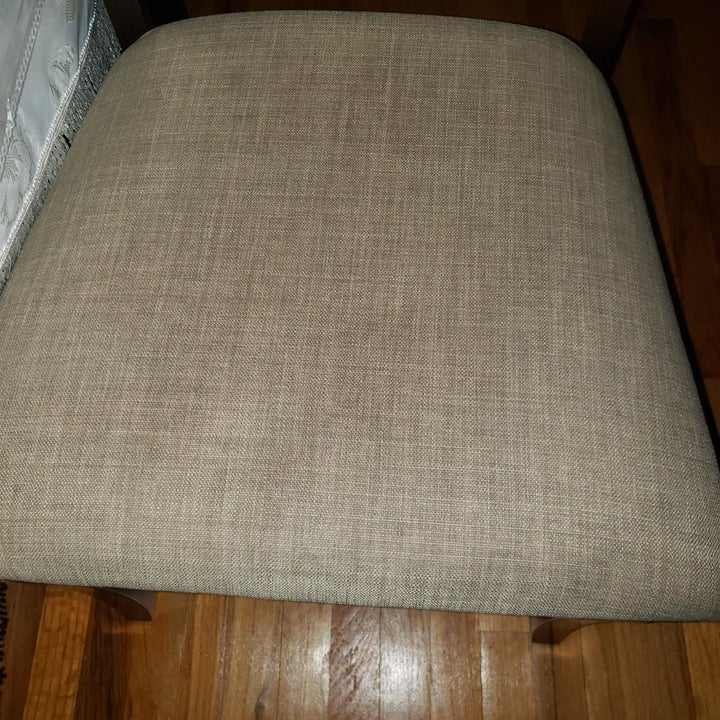 the cushion with stains removed