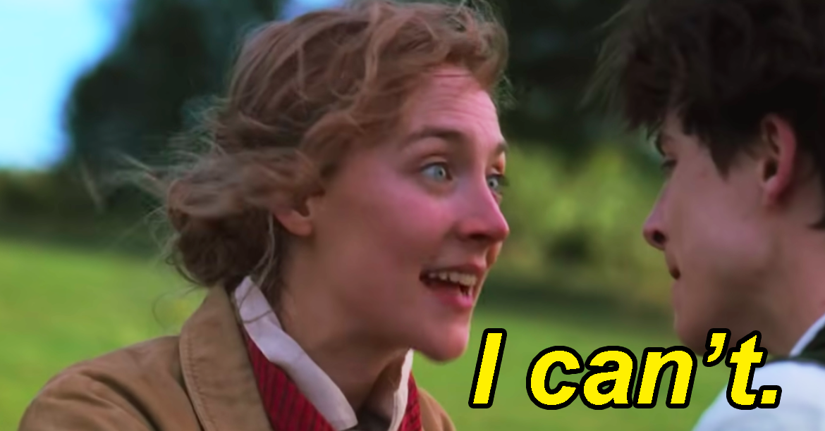 """16 Hilarious Tweets About That """"I Can't"""" Scene From """"Little Women"""""""