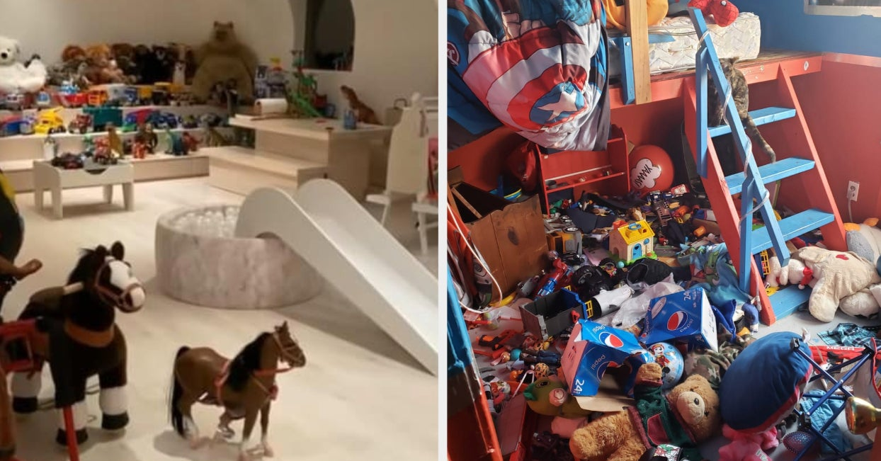 Parents Are Sharing Photos Of Their Kids' Messy Playrooms After Kim Kardashian Shared Her Kids' Immaculately Clean One