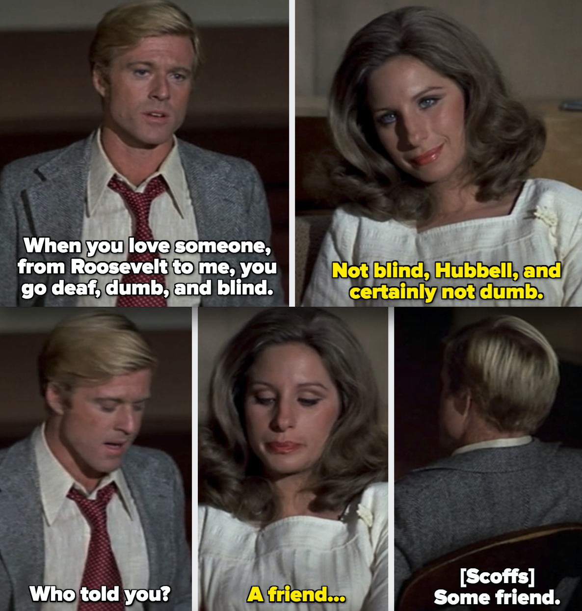 Hubbell and Katie talking about Hubbell cheating on her