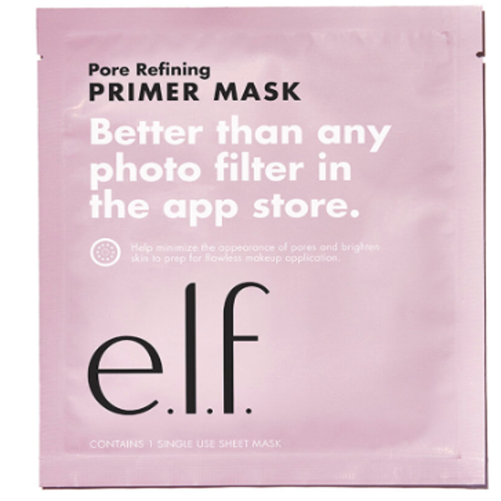 The mask's pink packaging