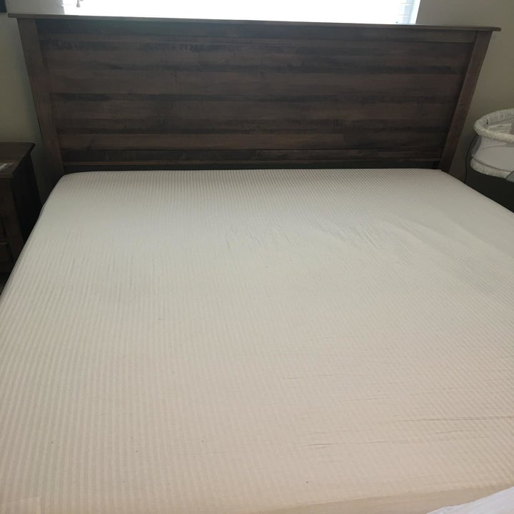 Same bed with sheets fitted in place
