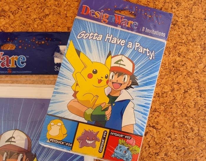 Pokémon birthday invitation cards,