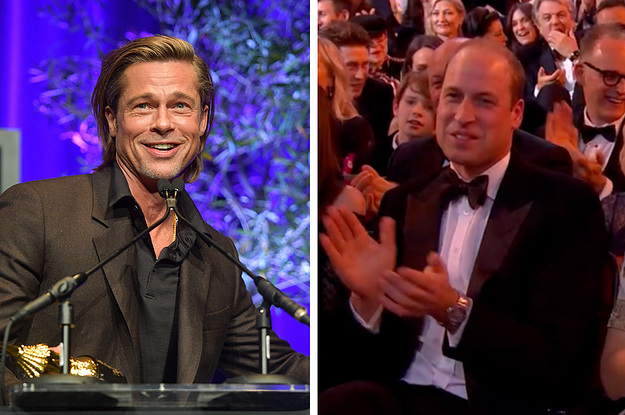 Brad Pitt Made A Joke About Prince Harry Moving To Canada In Front Of Prince William And Kate Middleton