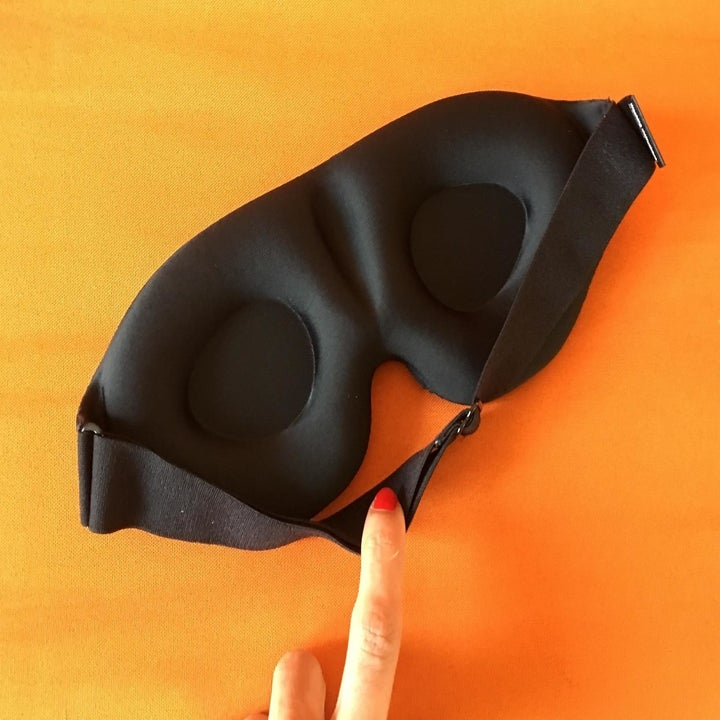 underside of sleep mask to show contour