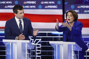 Amy Klobuchar And Pete Buttigieg Are On Each Other's Nerves. It Showed At Wednesday's Debate.