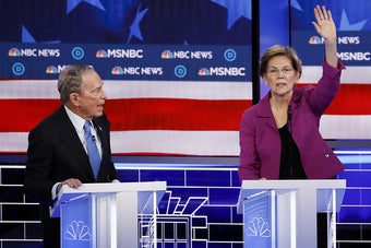 Michael Bloomberg Had To Face The Other Candidates For The First Time. It Didn't Go Very Well.