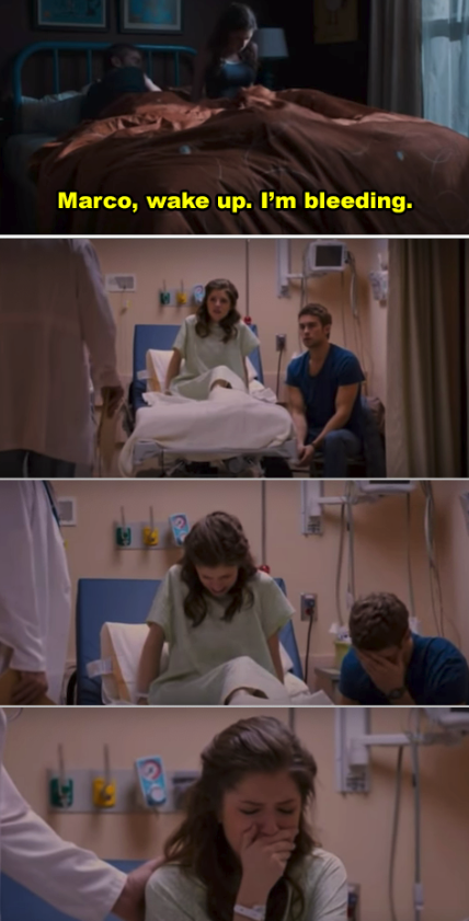Anna Kendrick's character in the hospital
