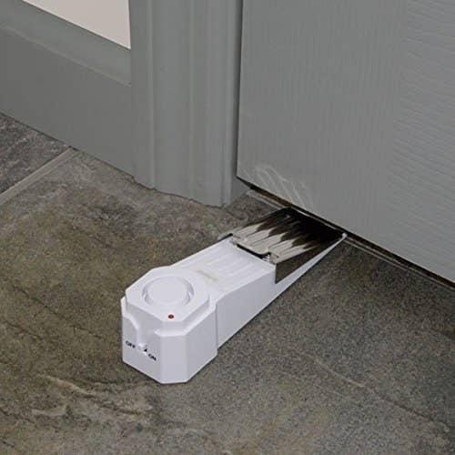 the wedge doorstop on the floor by a door