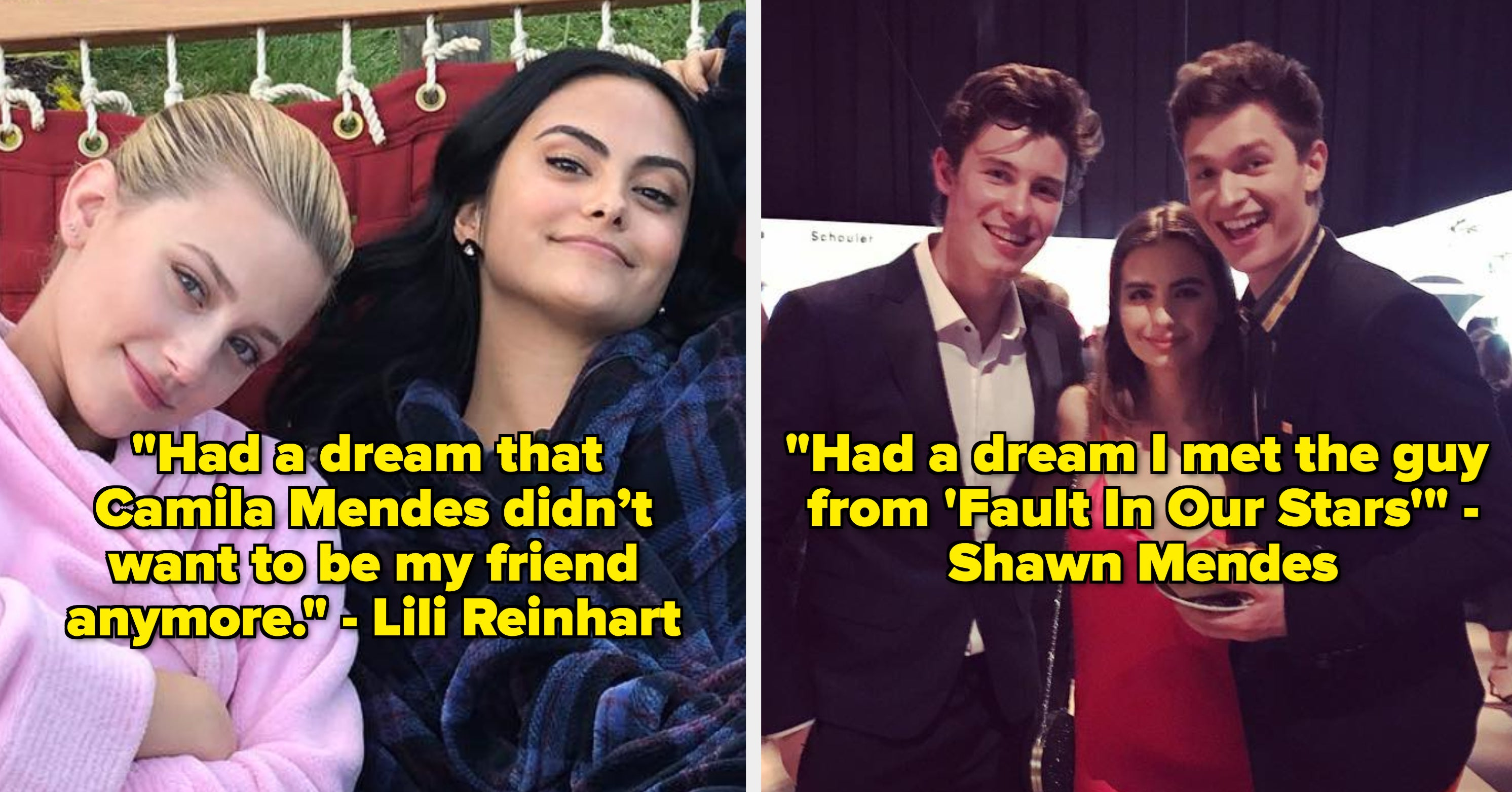 21 Real Dreams That Celebs Have Had That Are Actually Hilarious