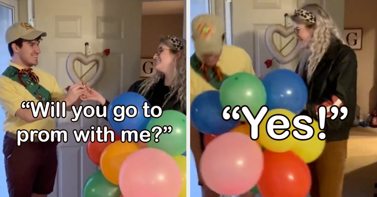 """A High School Senior Asked His BFF To Prom As Russell From """"UP"""" And It's All On TikTok"""
