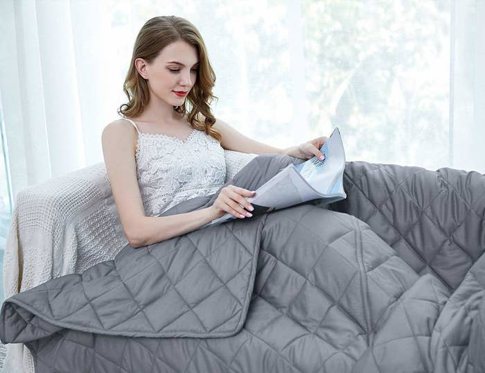 A model relaxing under the grey blanket