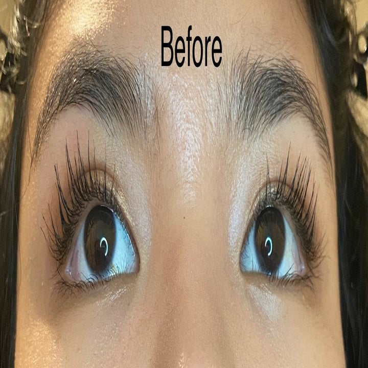 Before photo of a reviewer wearing mascara