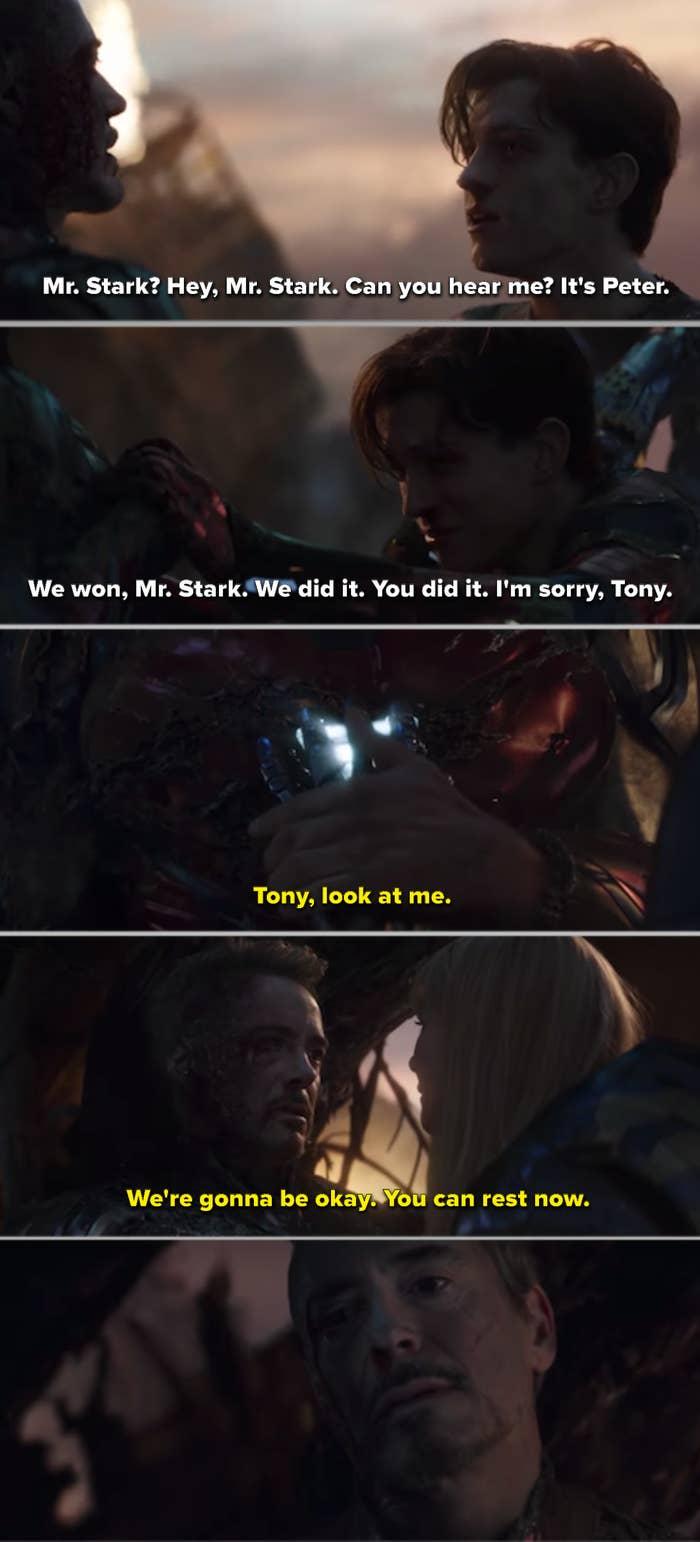 """Tony dying in """"Avengers: Endgame"""""""