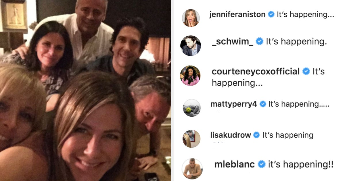 "The ""Friends"" Cast Is Officially Reuniting And Their Instagram Announcement Is Absolutely Perfect"