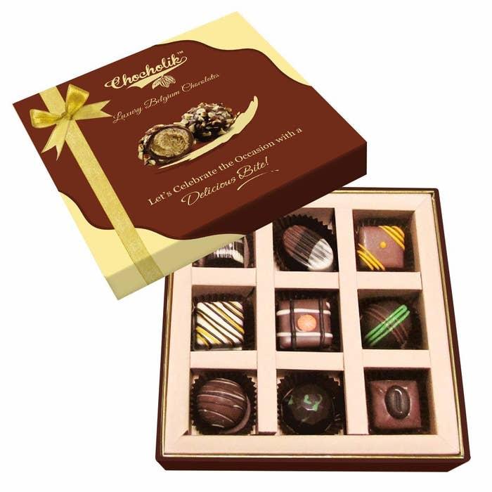 A box of Belgium chocolates