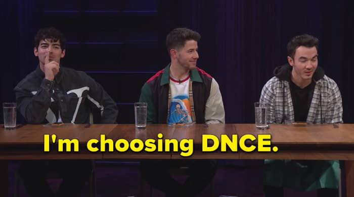 Kevin Jonas choosing a DNCE album over a Nick Jonas album