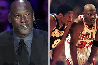 Michael Jordan Wept At Kobe Bryant's Memorial Then Joked He'd Created A New Crying Meme