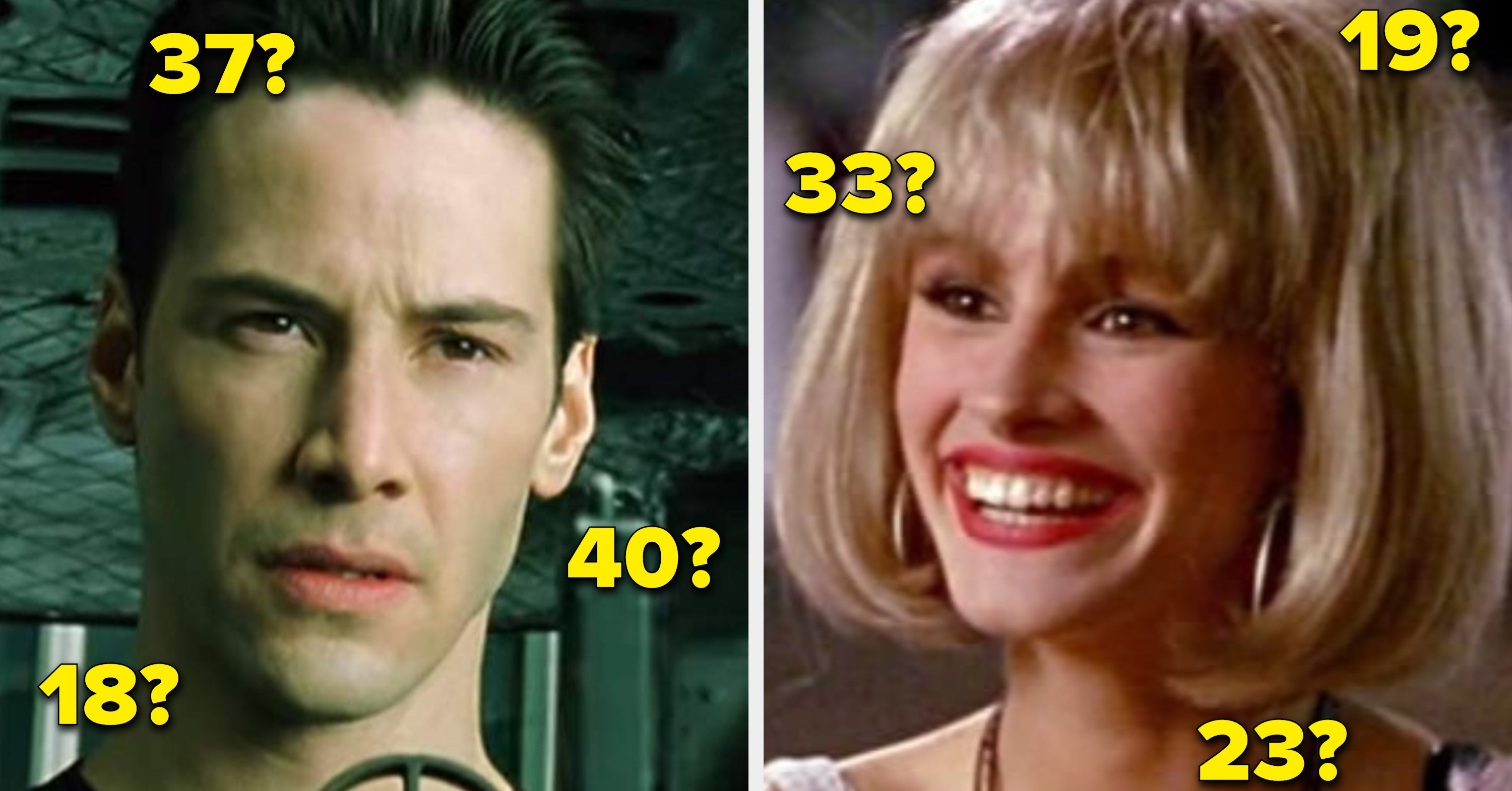 Can You Guess The Ages Of These Famous Actors In Their Iconic Roles?