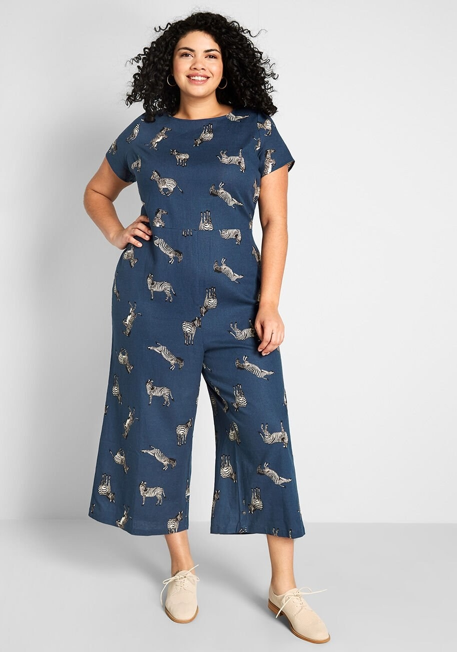 Nicelly Womens Graffiti Print Short-Sleeve 2 Pieces Crop Tops Straight Jumpsuit Romper