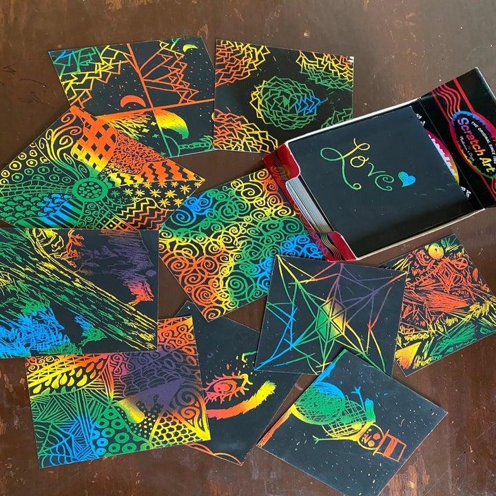 reviewer image of rainbow art