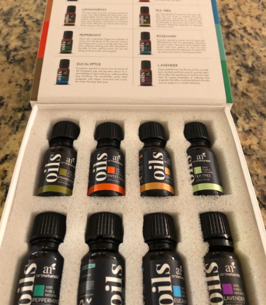 the box of the essential oils