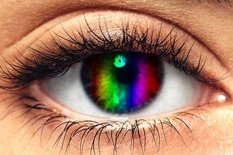 Not Everyone Can See All The Colors Of The Rainbow And Read These Words — Can You?