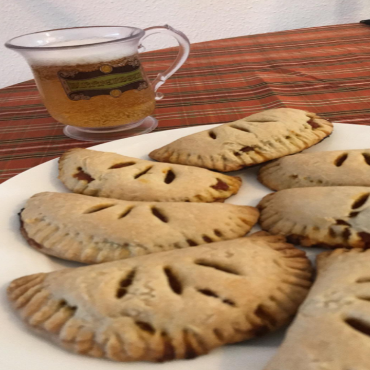 a reviewer photo of pumpkin pasties they made using the cookbook