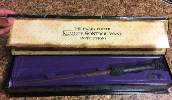 the wand remote in a wand-like box