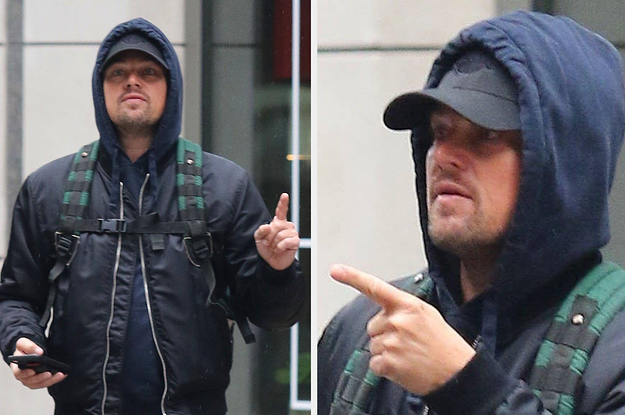 I Love These Pictures Of Leonardo DiCaprio Giving Some Random Man Directions Because They Give Off A Particular Vibe Of The Type Of Person I Imagine Leonardo DiCaprio To Be