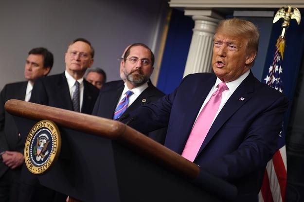 Image result for World Health Organization director praises Trump's leadership in response to coronavirus pandemic