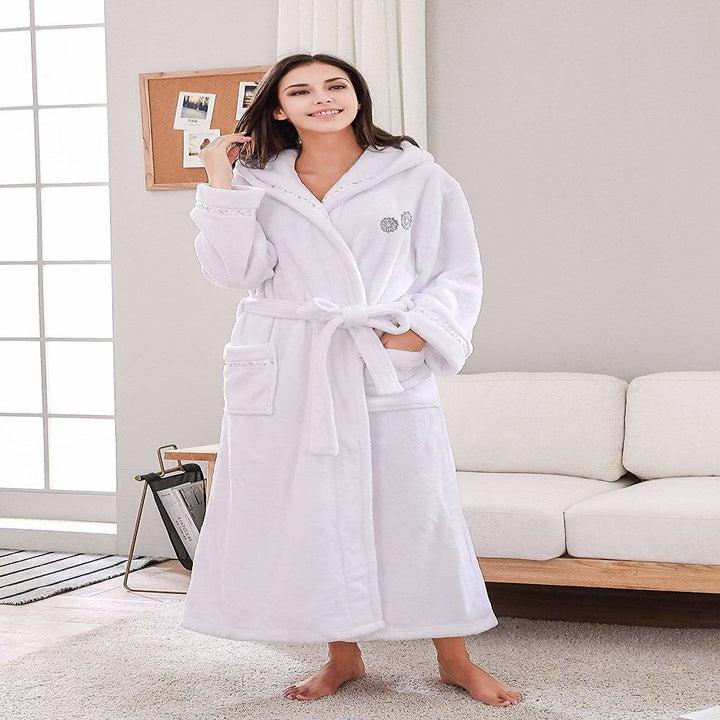 a person in a white robe