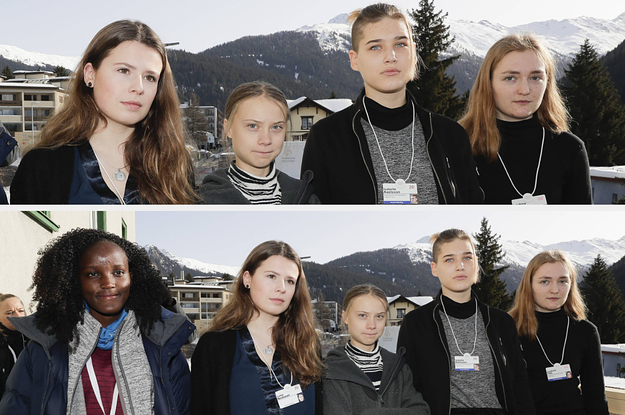 A Ugandan Climate Activist Was Cropped Out Of A News Agency Photo Of Greta Thunberg At Davos