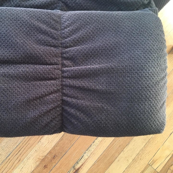 after: the same recliner part, now pet hair–free