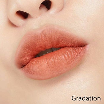 the color in a gradient faded effect on lips