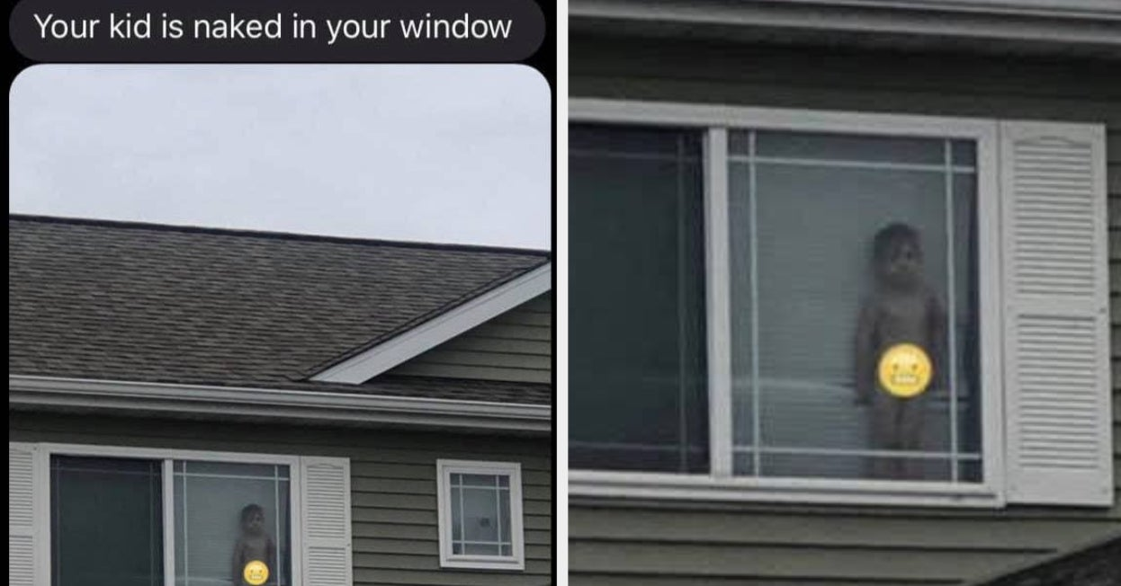 This Mom's Neighbor Texted Her A Pic Of Her Son Naked In The Window And The Pic Is Gold