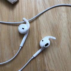 A closeup of the hooks on Ear Buds
