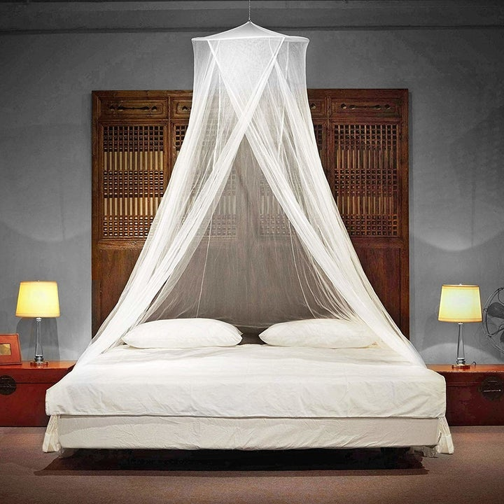 the canopy over a bed