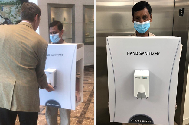 The World's Most Valuable Company Used A Migrant Worker As A Human Hand Sanitizer