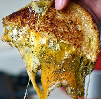 Photo of grilled cheese with za'atar