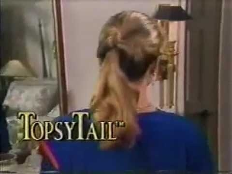 A screenshot of the back of a woman's head has a TopsyTail hair style