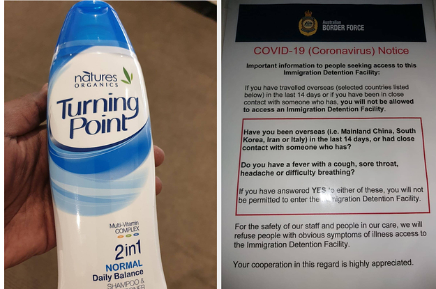 Men In Detention Are Washing Their Hands With 2-In-1 Shampoo And Conditioner As The Coronavirus Spreads