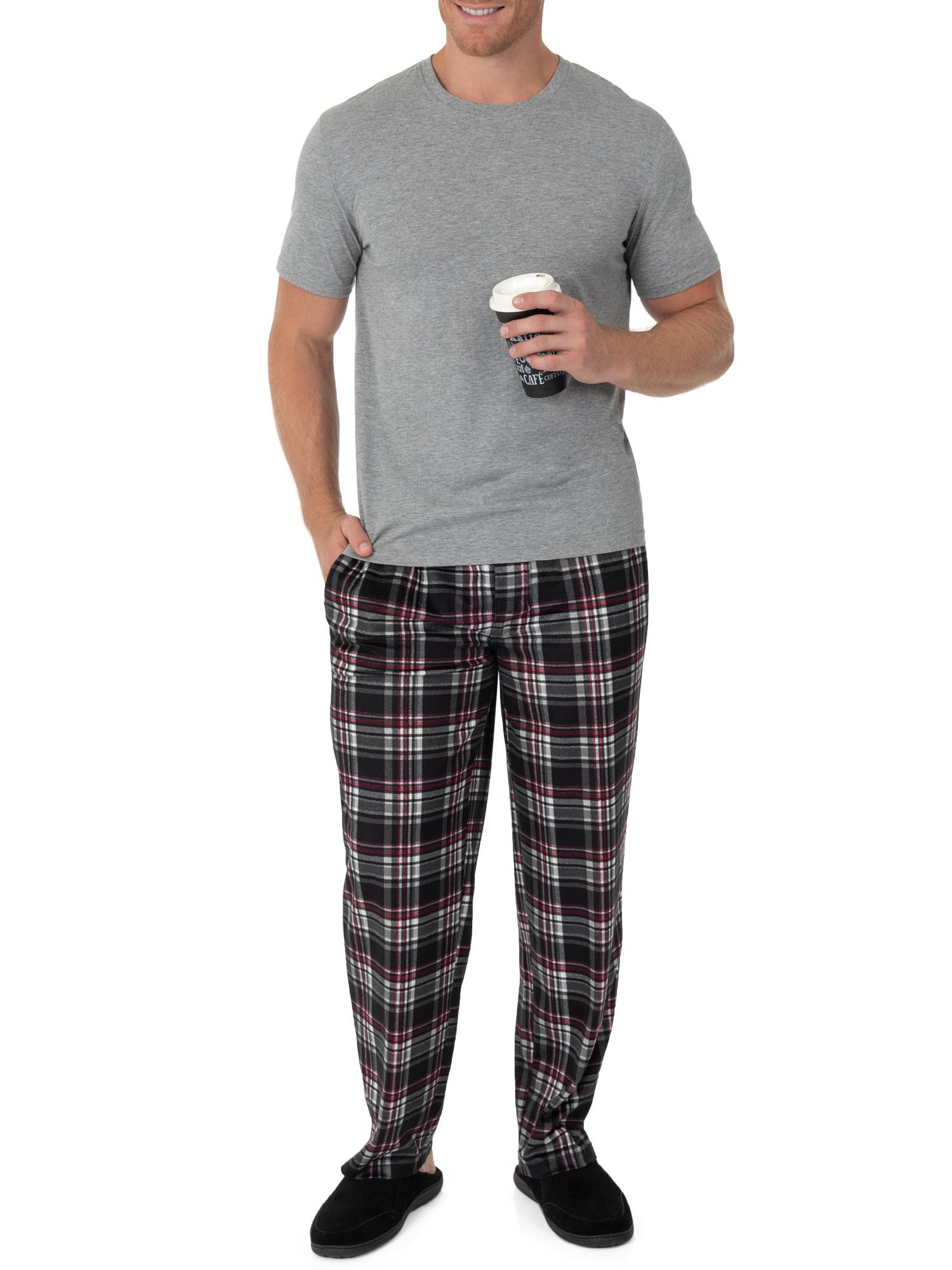 The black and red plaid pajama pants