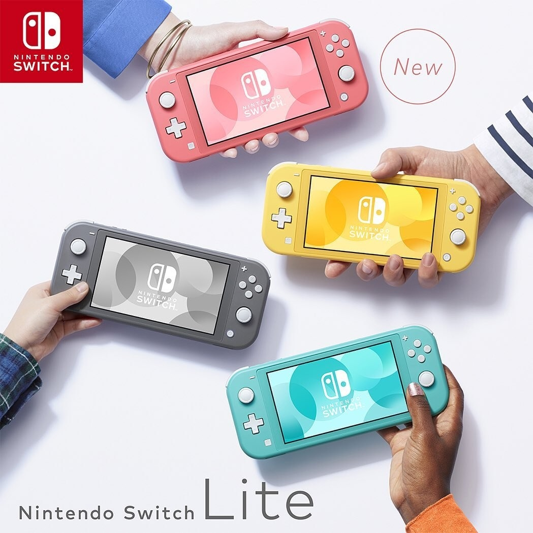The Nintendo Switch in three colors