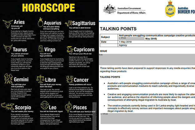 """Really Brought Their A Game"": The Emails Behind That Bizarre Horoscopes Poster Designed To Scare Refugees thumbnail"