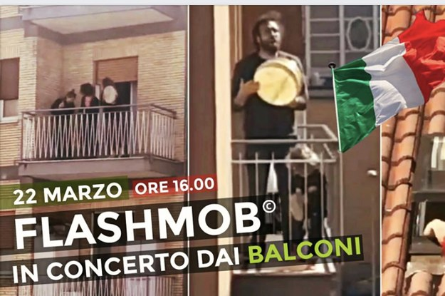 Italians In The Coronavirus Lockdown Are Joining Flash Mobs From Their Balconies, And The Show Of Unity Is Making People Emotional