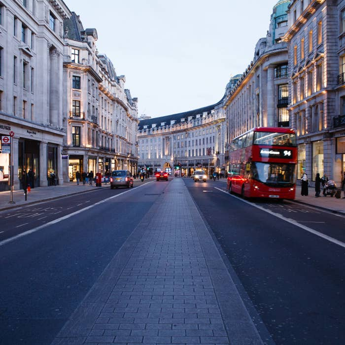 A near-empty Regent Street on March 16.